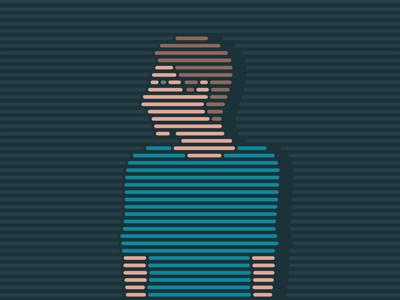 selfie portrait lineart illustration selfie