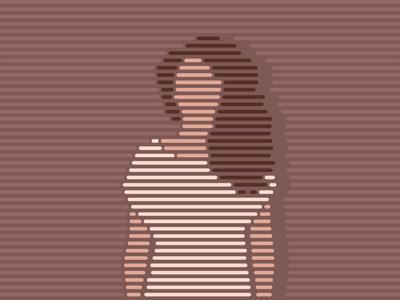 she girl she portrait lineart illustration