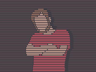 nikita man portrait lineart illustration