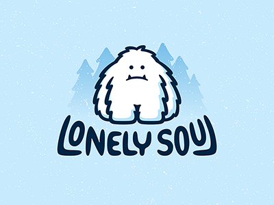 Yeti lettering snow forest beast bigfoot soul lonely yeti