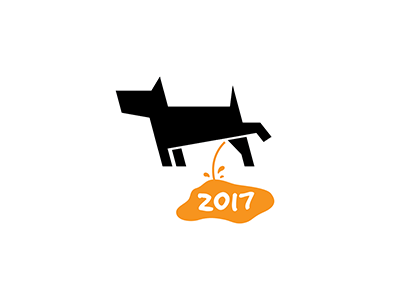 Happy New Year animal pet 2017 piss dog 2018 year new