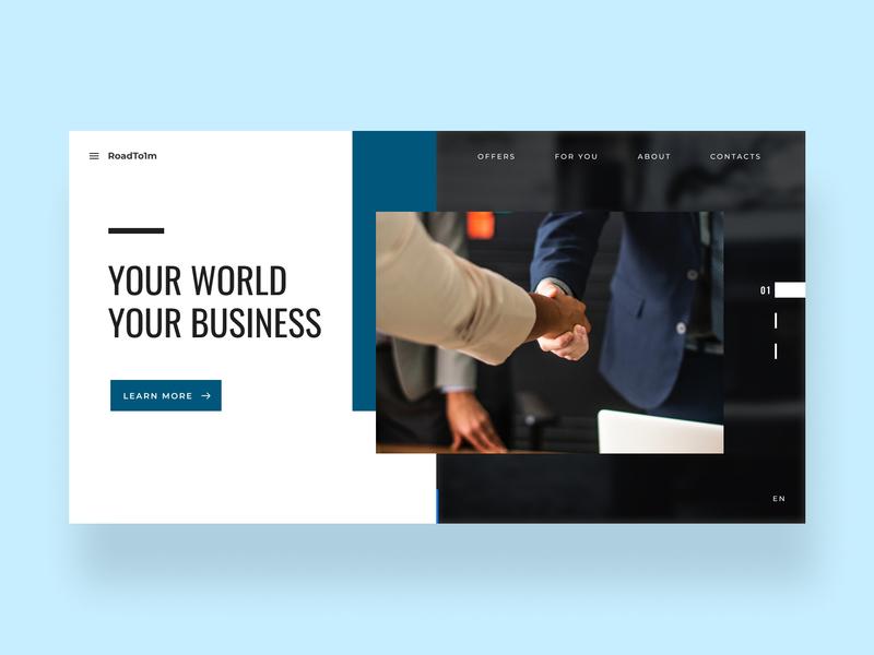 Business Homepage typography branding ui website web ux design