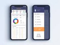 App dashboard for SaaS company