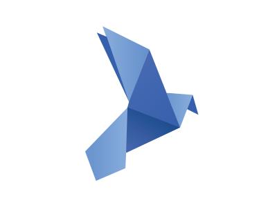 UNU Peace & Progress Logo bird blue origami japan dove vector logo