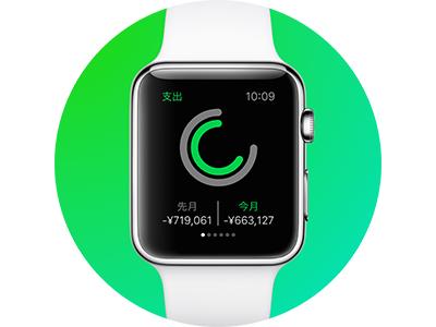 Apple Watch App Design japan graph finance green
