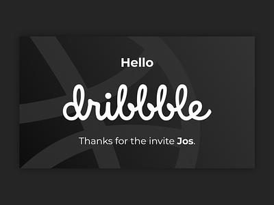 Hello Dribbble hello dribbble ball dribbble thanks invited flat