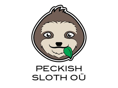 Peckish Sloth Logo vector design peckish sloth logo