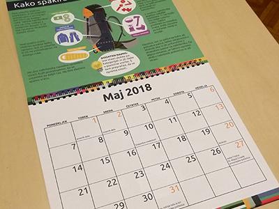 Calendar for Scout organization print illustration graphic  design indesign infographic design calendar