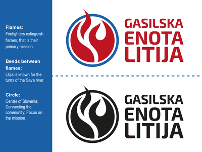 Volunteer Fire Department Litija fire logo logo design graphicdesign logodesign firefigters firefighter
