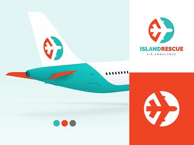 Island Rescue Logo Design icon branding logo design