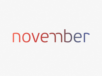 November november type month flat gradient sketchapp clean