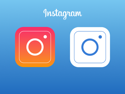 Another Instagram Icon apple logo app concept redesign camera round sketchapp ios7 flat icon instagram