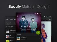 Spotify Material Design