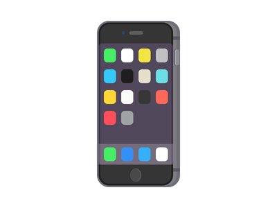 iPhone icon sketchapp space gray illustration iphone 6 iphone