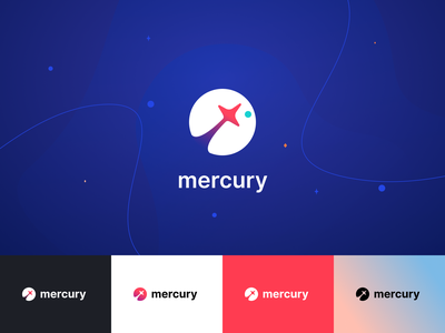 Mercury Logo star logos space spaceship logo planet mercury