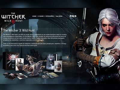 The Witcher Ciri designweb uiux ux ui web uiux cdproject ciri witcher thewitcher