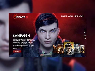 Gears of War design webdesign game gears of war hotsite