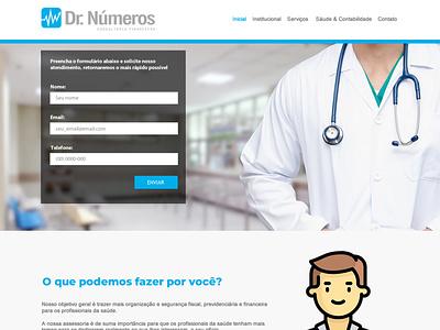 Dr. Números front-end design webdesign