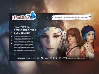 Life is Strange website design web game ui life is strange front-end design webdesign