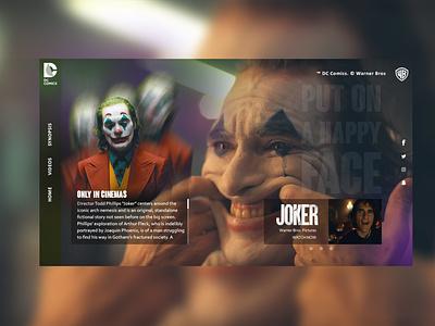 Joker dark design joaquin phoenix design front-end design webdesigner webdesign the joker joker dc comics