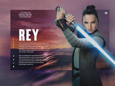 Rey | Star Wars web designer concept frontend webdesign design dev web starwars rey