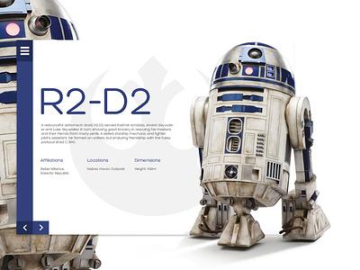 R2D2 illustration front-end design frontend concept app webdesign brazil design web design r2d2 star wars starwars