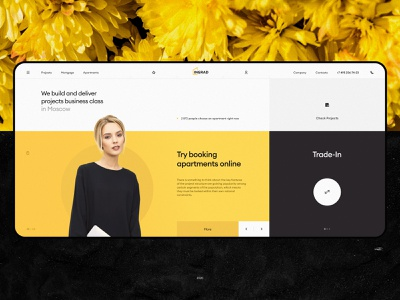 INGRAD | Concept design idaproject minimal typography ui ux web interface real estate festival website branding style