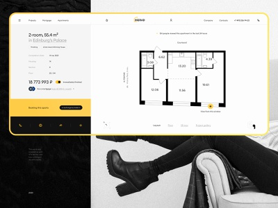 INGRAD | Apartment Concept booking interface branding style ux ui real estate apartments minimal idaproject design