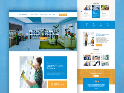 Freebie: House Cleaning Website Template