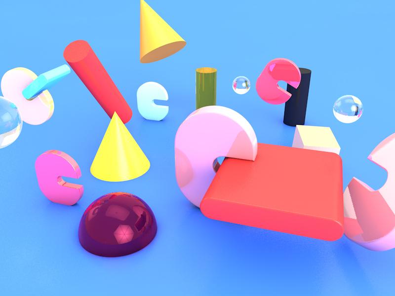 Things web geometric texture abstact render octane illustration design c4d cinema 4d 3dmodel 3d