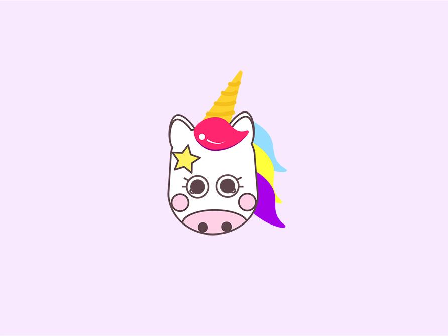🦄 horn icon app character fantasy logo unicorns kawaii photoshop unicornio ilustracion illustration illustrator vector icon unicorn