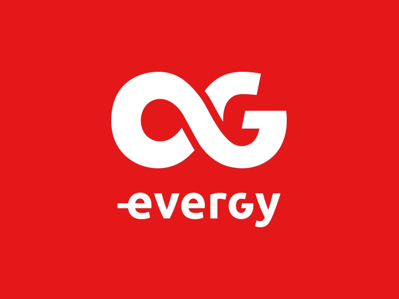 Evergy fitness gym energy evergy logo symbol g infinity ever