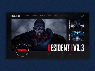 RESIDENT EVIL 3 REMAKE | First screen concept | Screen Animation inspiration remake creative video game video ui motion design motion loop animation invision studio invision capcom flat interaction daily ui animation design animation game design game resident evil wacabi