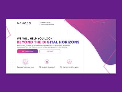 Web Studio   Corporate website design   Minimalistic site