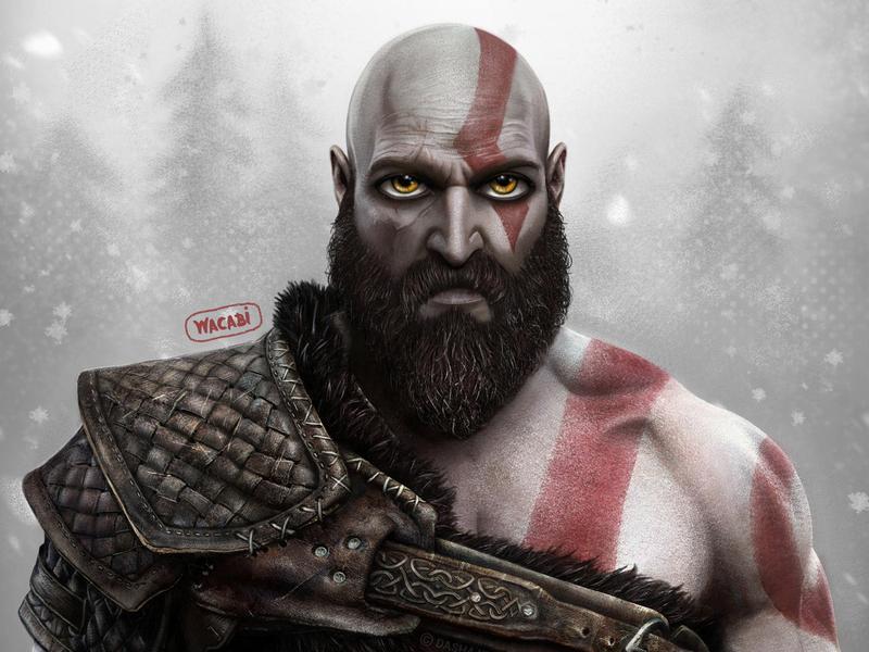 Kratos | God of war fan art | PlayStation game ps4 sony nordic game art game spartan wacom procreate art ipad pro art illustration digital illustration digital art character design character artwork art wacabi design kratos god of war