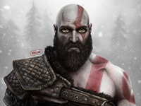 Kratos | God of war fan art | PlayStation game