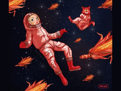 Astronaut. Character Design. iPad Pro + Procreate
