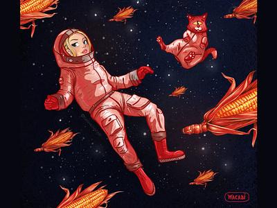 Astronaut. Character Design. iPad Pro + Procreate art challenge artwork illustration universe creative astronaut space procreate art ipad pro art digital art digital illustration character design character art wacabi