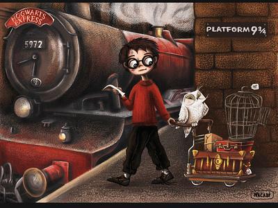 Harry Potter art | Character Design | iPad Pro + Wacom art artwork character character design digital art digital illustration illustration ipad pro art procreate art design wacabi wacom magic kings cross harry potter world fan art harry potter hogwarts