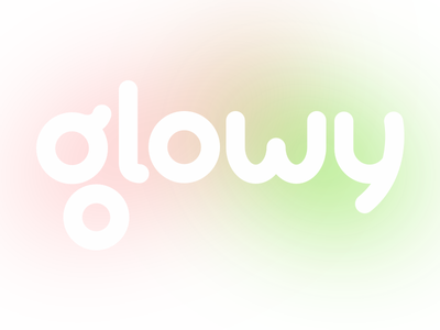 Glowy Logo concept branding typography digital branding design logo