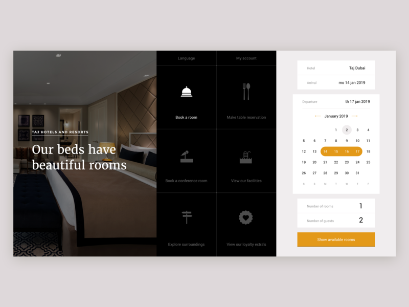 Hotelsite concept taj luxury booking hotel ux branding ui interaction-design typography user interface digital branding concept design