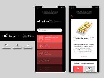 Oven concept connected app platform embedded software branding app interaction-design ux product design user interface digital branding concept design