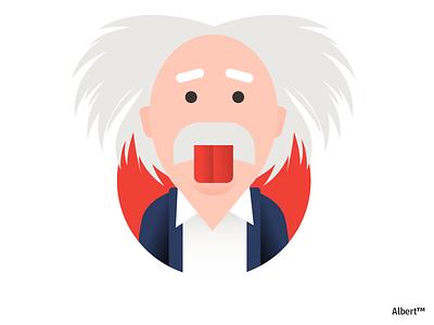Albert genius scientist man illustration character design character