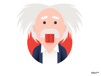 Albert genius scientist man illustration character design character