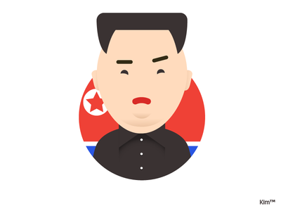 Kim dictator east man illustration character design character