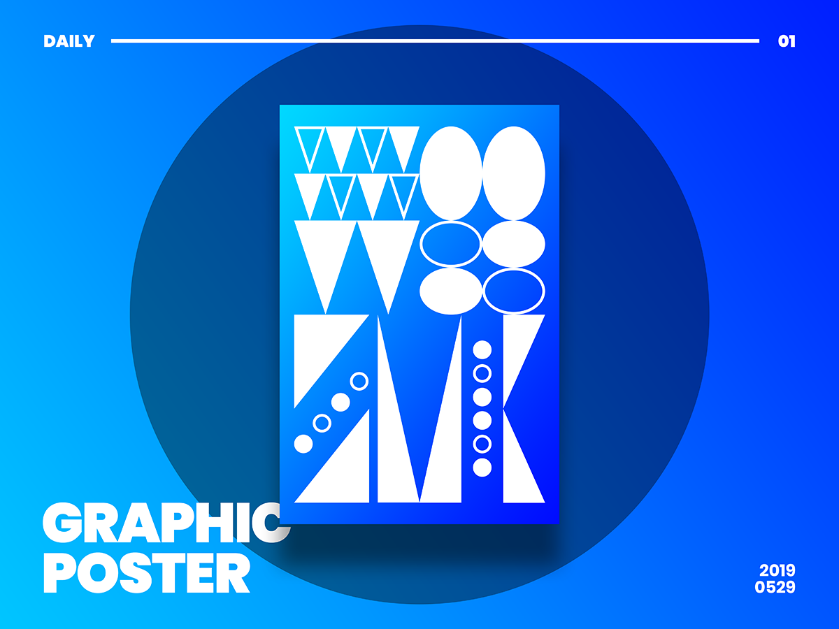 Graphic Poster Design print color gradation editorial pattern daily design poster graphic