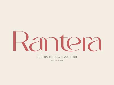 Rantera - Display Ligature Sans Serif ligature modern font display font layout fonts wedding font logo font typeface typography sans serif