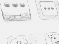 Chat ios icon sketch