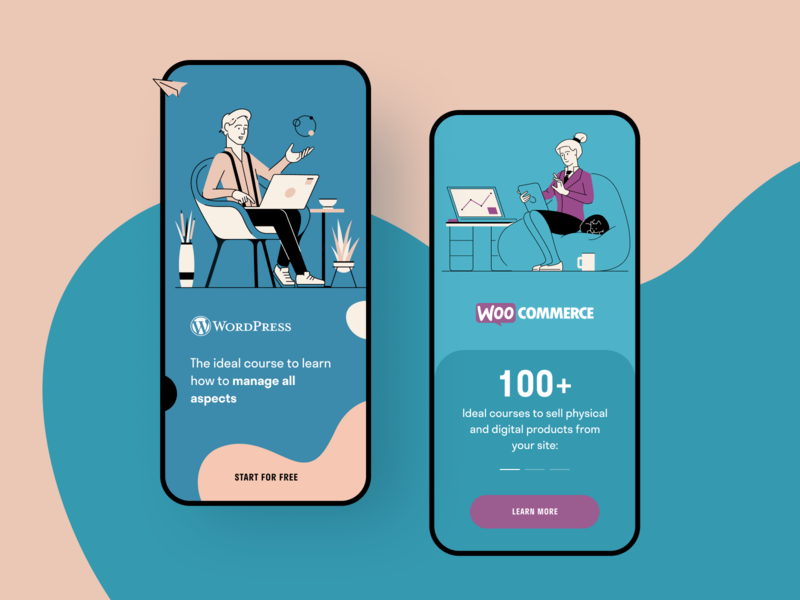 WordPress Masters Support support seo digital product mentorship wordpress learning education e-commerce application app entrepreneur startup business halo lab halo colourful design mobile