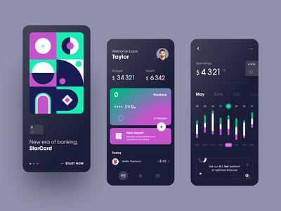 StarBank Mobile App ux ios ui finance app fintech finance mobile banking banking service app application entrepreneur startup business halo lab halo colourful design mobile